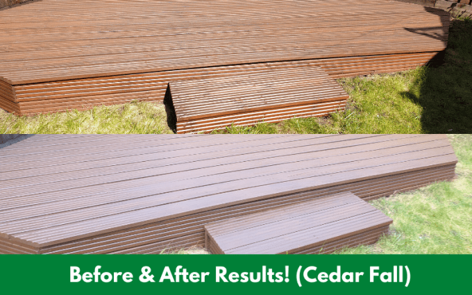 Before & After Results! (Cedar Fall)