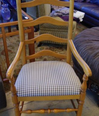 2-Ladder Back Side Arm Chairs Prices Vary