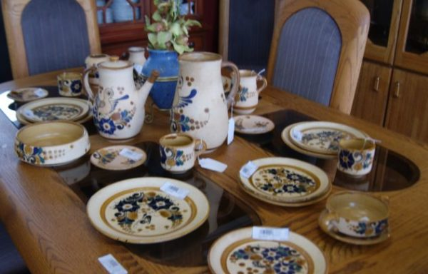Signed Spain Pottery Dinnerware Priced Separate