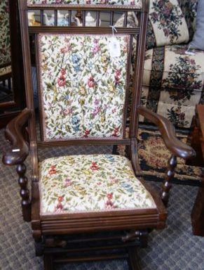 Vintage Glider Arm Chair