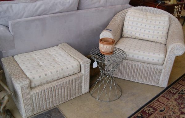 Arm Chair And Ottoman Set