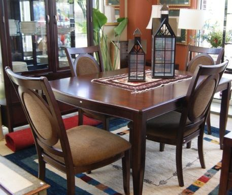 Modern Table and Chairs And China Cabinet Priced Separate