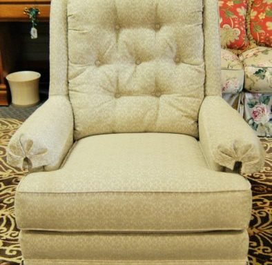 Tufted Glider Rocking Chair