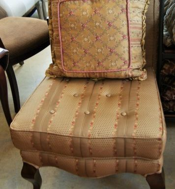 2-Tufted Button Parsons Chairs With Pillows Priced Separate