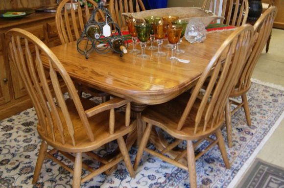 10 Piece Table and Chairs And China Cabinet Priced Separate