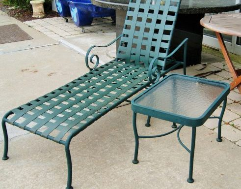 Patio Chaise Lounge Chair and Side Table Priced Separate
