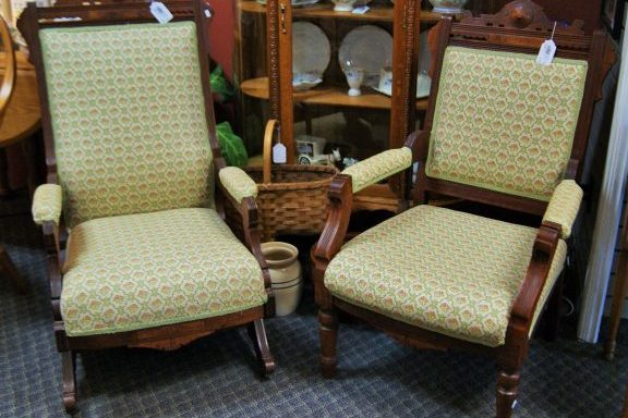 Antique Eastlake Rocking Chair and Side Arm Chair Priced Separate