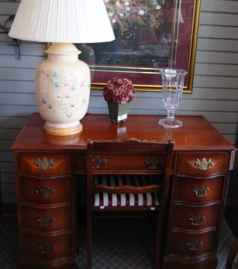 Antique Cherry Desk and Chair Set