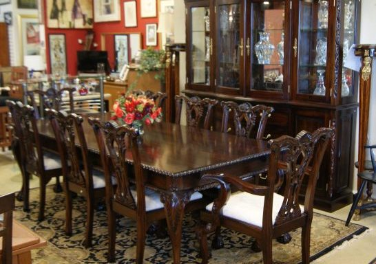 Formal Dining Room Set and Breakfront Cabinet Sold Separate