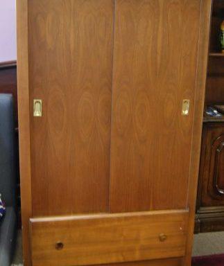 Mid Century Modern Modern Rolling Cedar Lined Wardrobe Cabinet