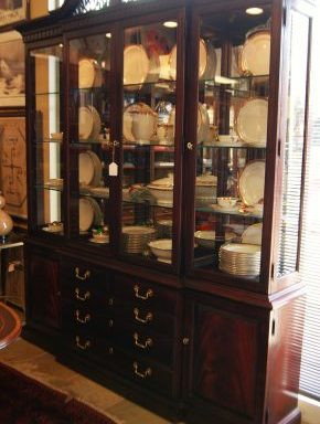 Traditional Cherry China Cabinet