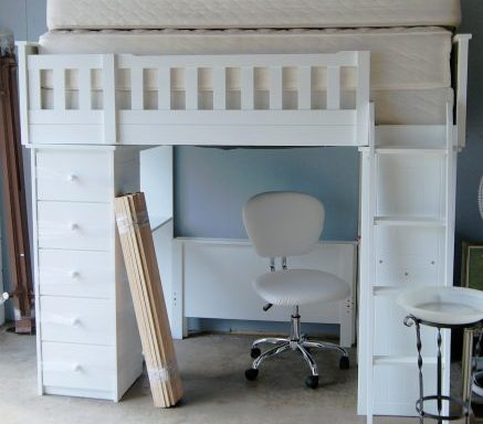 White Twin Bunk Bed Set