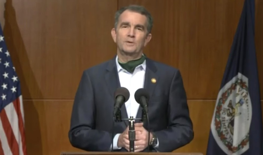 Virginia Governor Ralph Northam speaks at a COVID-19 briefing in Richmond April 24, 2020.