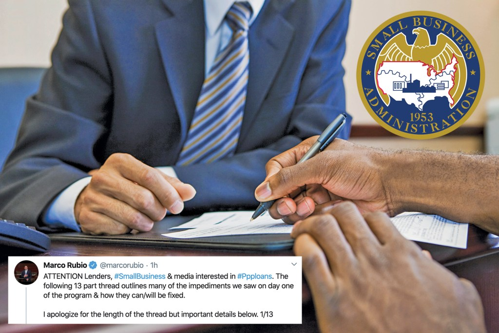 Florida Senator Marco Rubio said on Twitter Saturday, April 4, 2020 that problems with the rollout of SBA's emergency loans to small businesses can and will be fixed.