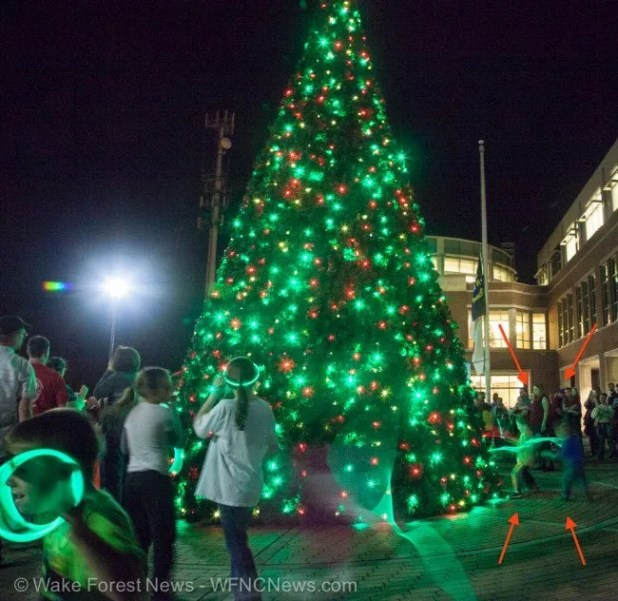 Kids provide magic power to Wake Forest Christmas Tree