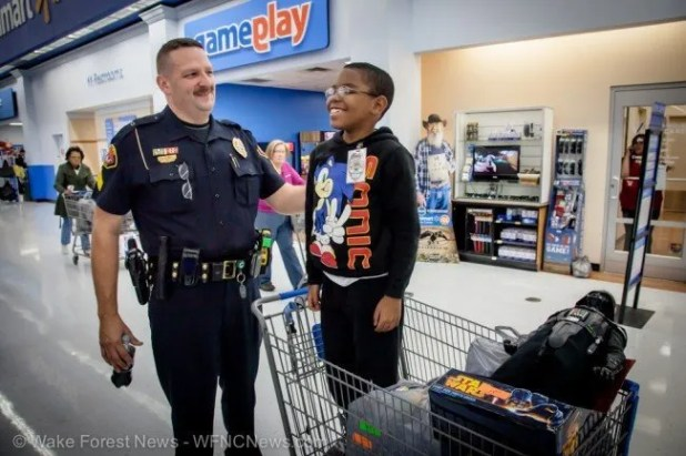 Sgt. May and Travon, with a little Vader in the cart, tell us how much fun they both had at the event.