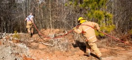 Youngsville FD Battles CaptiveAire Brush Fire and Wins