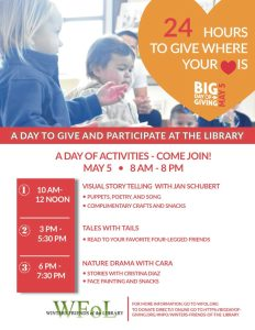 Library Fun on the Big Day of Giving