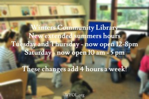 Winters Community Library Adds New Summer Hours