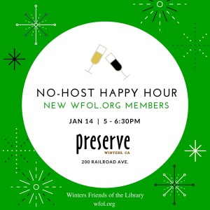 WFoL.org New Members and Volunteers No-Host Happy Hour Jan 14.