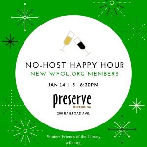 WFoL.org New Members and Volunteers No-Host Happy Hour Jan 14.