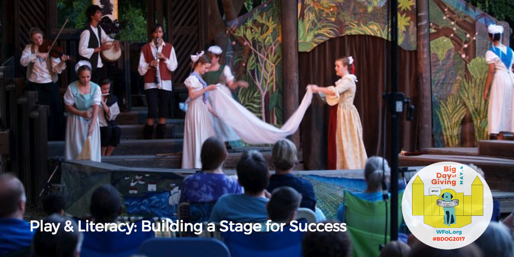 WFOL Shakespeare Stage Goal for Big Day of Giving 2017, photo by Woody Fridae