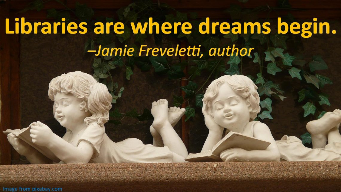Libraries are where dreams begin quote