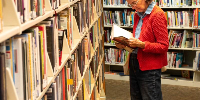 Library patron reading