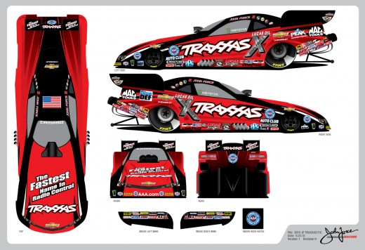 John Force Traxxas Funny Car for  Motorplex