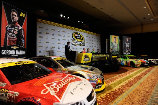 during the NASCAR Sprint Cup Championship 4 Media Day at Westin Diplomat on November 19, 2015 in Hollywood, Florida.