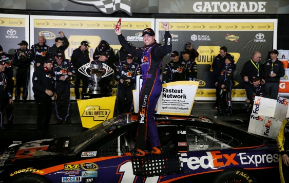 during the NASCAR Sprint Cup Series Sprint Unlimited at Daytona International Speedway on February 13, 2016 in Daytona Beach, Florida.