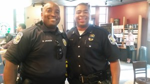 Officers Michael Jackson (left) and Roger Collins