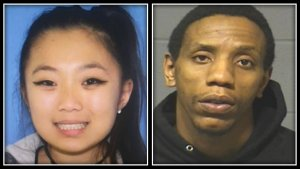 Investigators are still looking for 28-year-oldJames Goolsby (right) and 23-year-old Leanne Robitaille in connection with the deadly shooting. (Manchester Police Department)