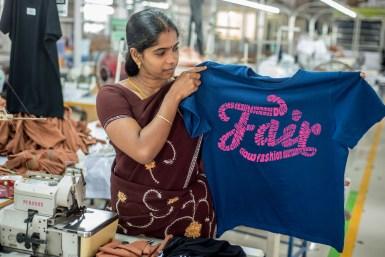 MILA, fair trade garment factory, Tirupur, Tamil Nadu, India.