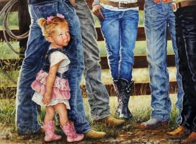 """Budding Conversation"" Nyla Tillery, watercolor, 22""x30"""