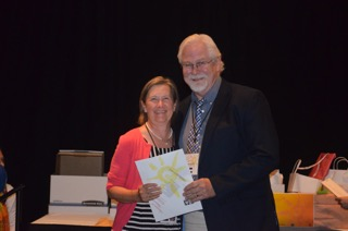 David Gale Memorial Award Winner Kathy Cranmer with Sterling Edwards