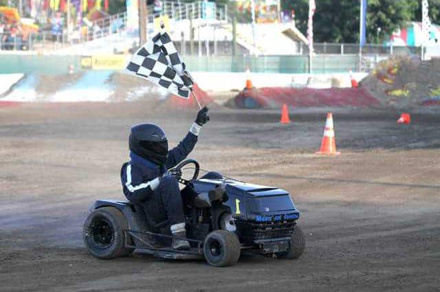 lawn mower racing california