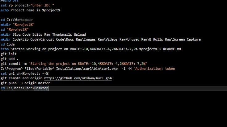 automatic project creator