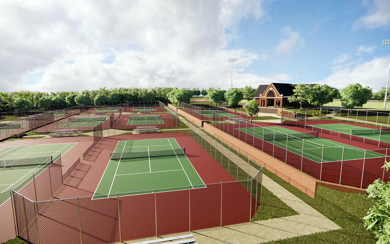 Belmont Abbey College Tennis Complex