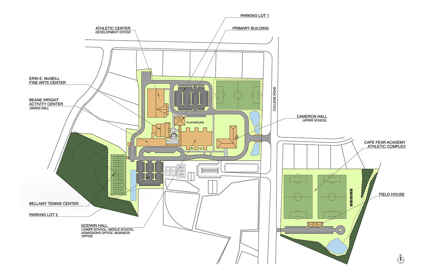 Cape Fear Academy Masterplan