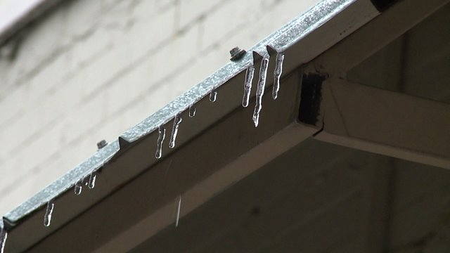 Icicles Forming in Covington
