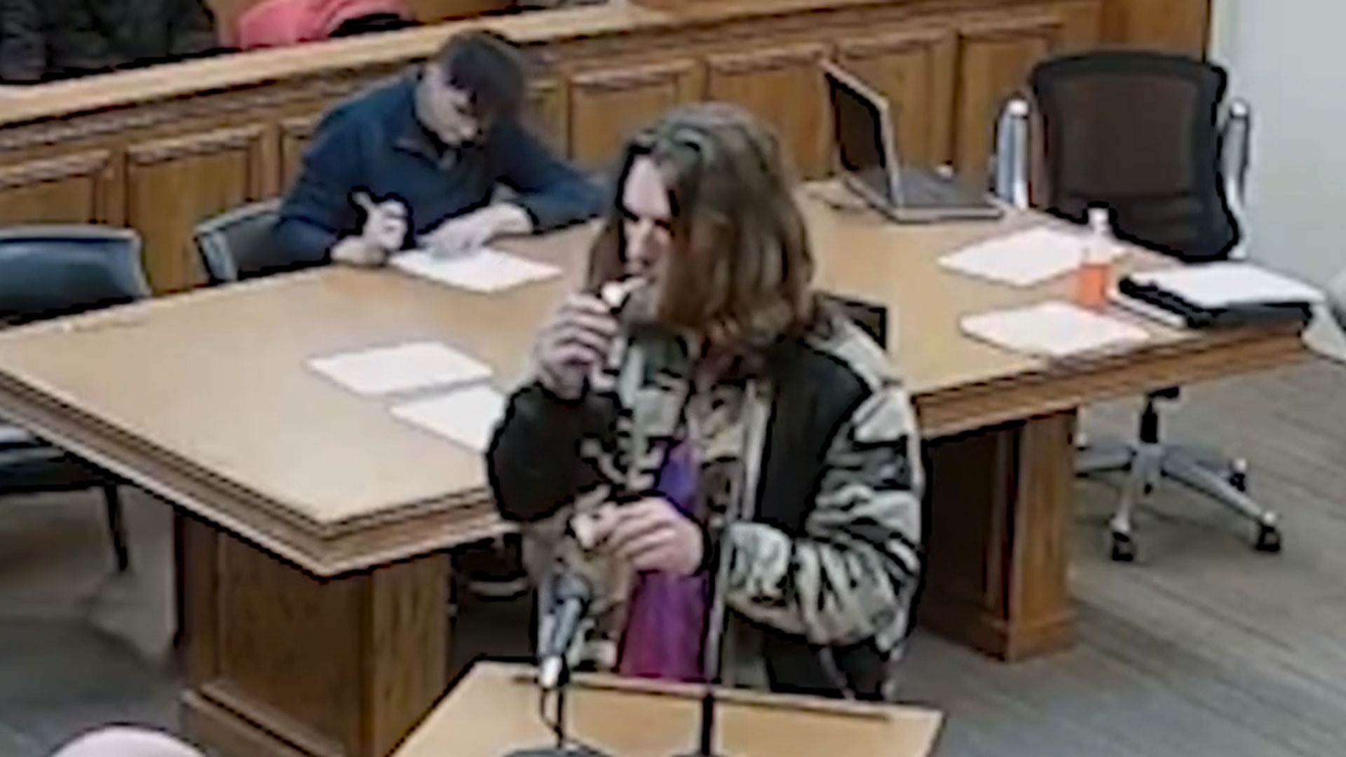 Man smokes pot in court