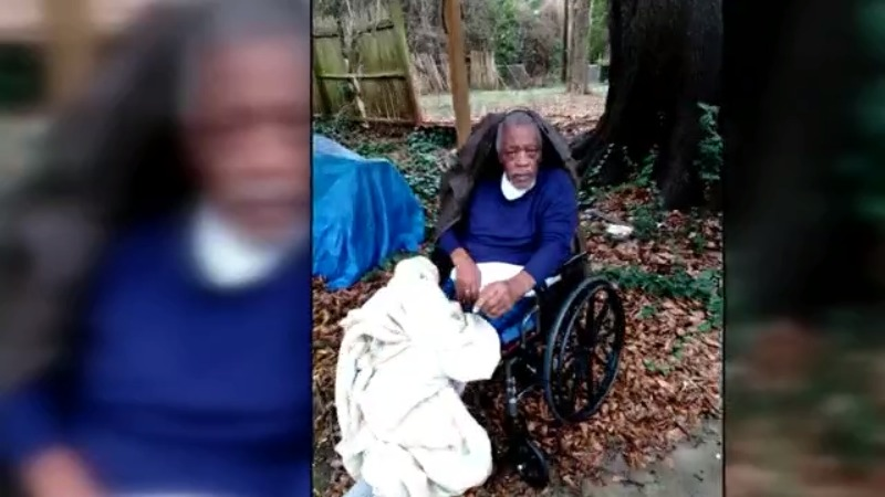 Elderly NC man left in rain