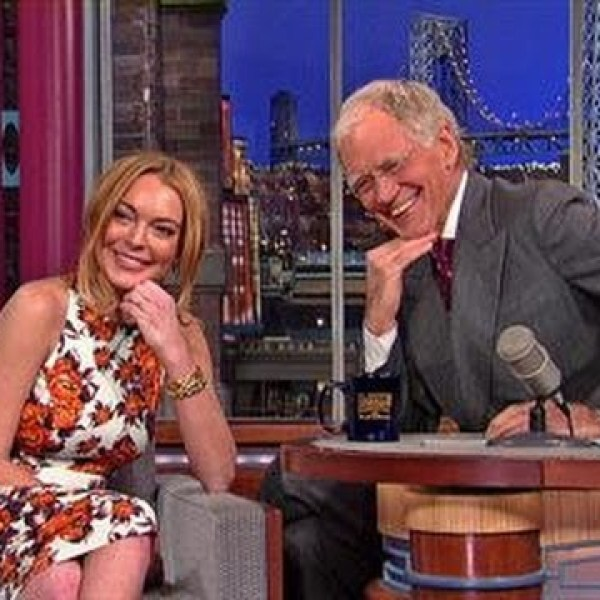 David Letterman – Lindsay Lohan on Going to Rehab