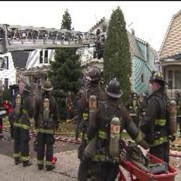 Person injured in house fire