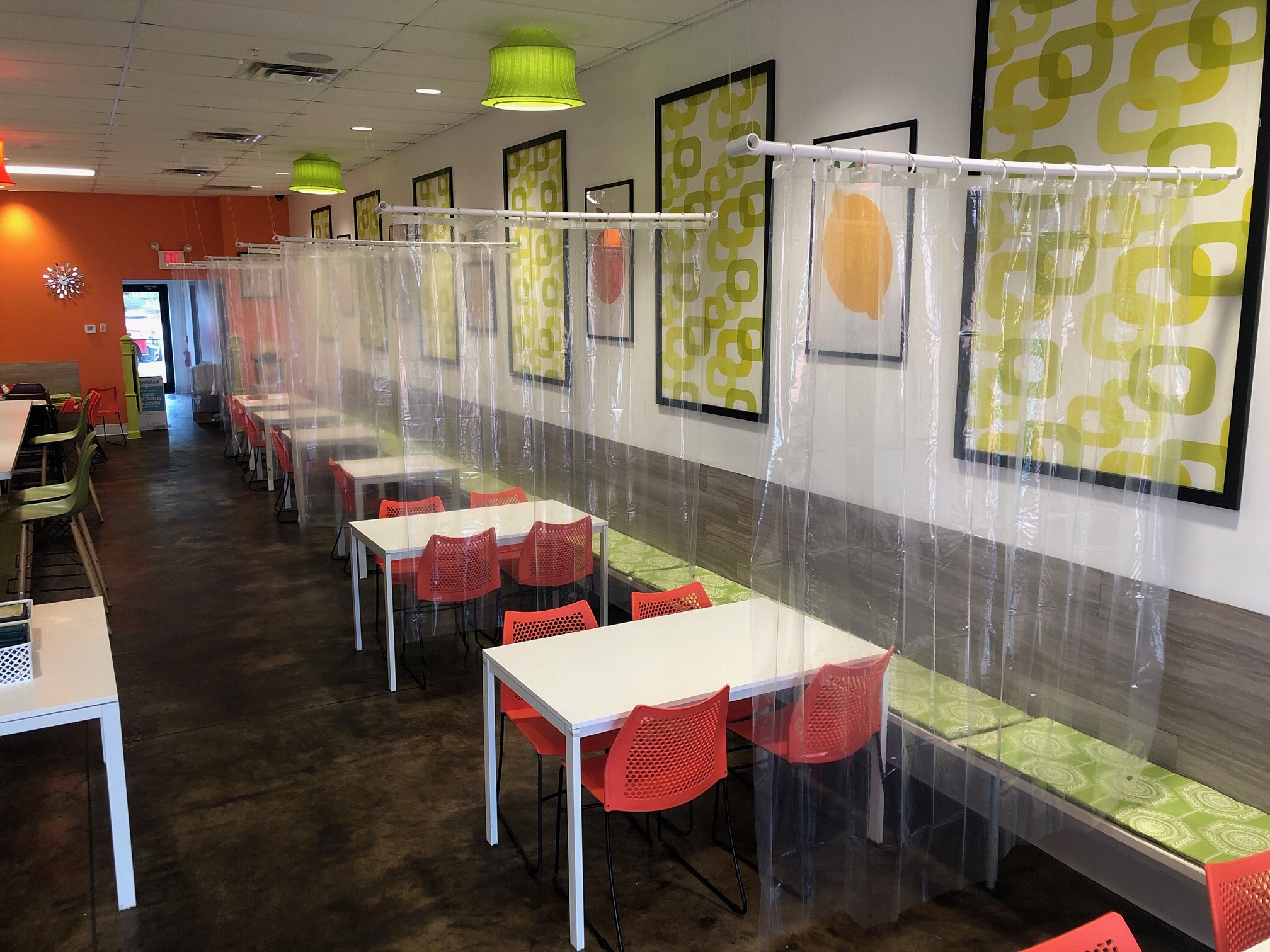 ohio restaurant adds shower curtain