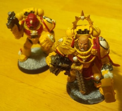 Veteran sergeant now equipped with a power fist and my Captain