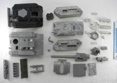 eBay lot of 3 broken tanks, a Chimera, Basilisk and Hellhound