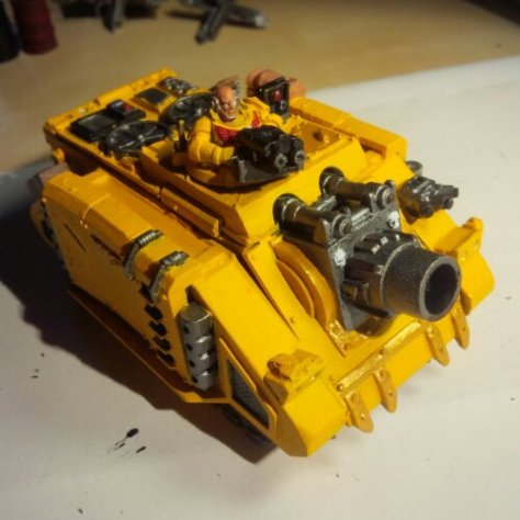 Front view of my Imperial Fists Space Marine Vindicator Tank