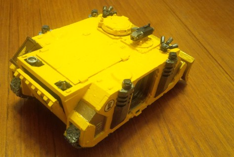 Imperial Fists Space Marine Rhino (rear view)